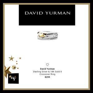 🔱'David Yurman' AUTHENTIC 'X' Crossover Ring🔱6.5
